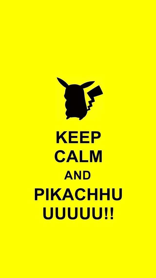 Keep calm and pikachu! // Tap to see more Pikachu iPhone Wallpapers - @mobile9 #pokemon #anime #cute
