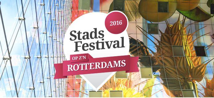 In het laatste weekend van mei vindt het Stadsfestival Op z'n Rotterdams plaats. Deze dagen staat heel het centrum in het teken van kunst, cultuur en natuurlijk lekker eten.
