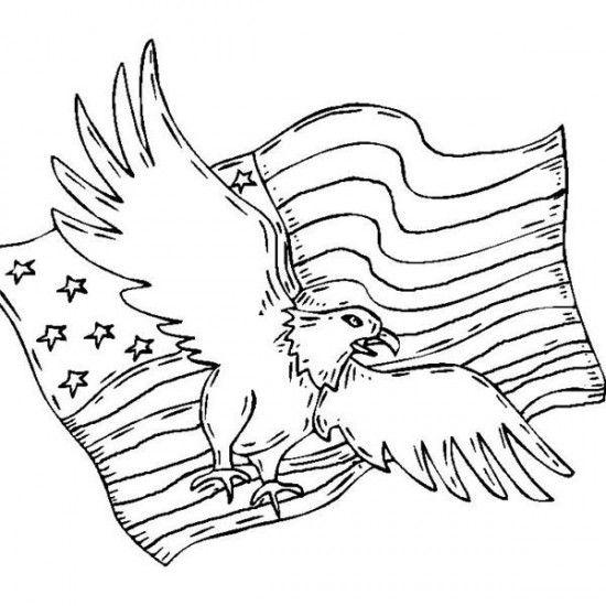 Printable American Patriotic Coloring