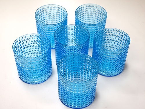 Kaj Franck Nuutajarvi Ruuturitari 6 Light Blue Glasses | eBay