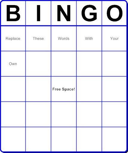 Make Your Own Bingo Card: 7 Best Bingo Template Images On Pinterest