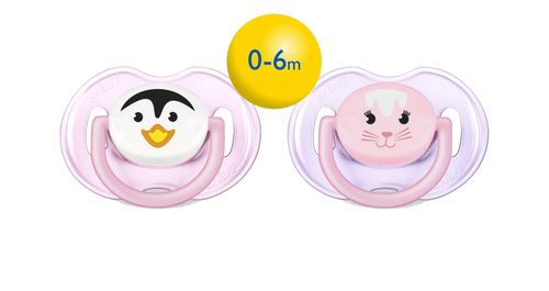 Avent Soother Fashion Animal 0-6M 2PK - Just at - €6.70