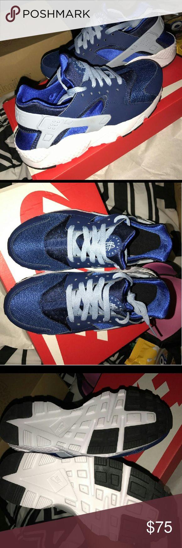 Nike Huarache Run Costal blue and grey blue shies Nike Shoes Athletic Shoes