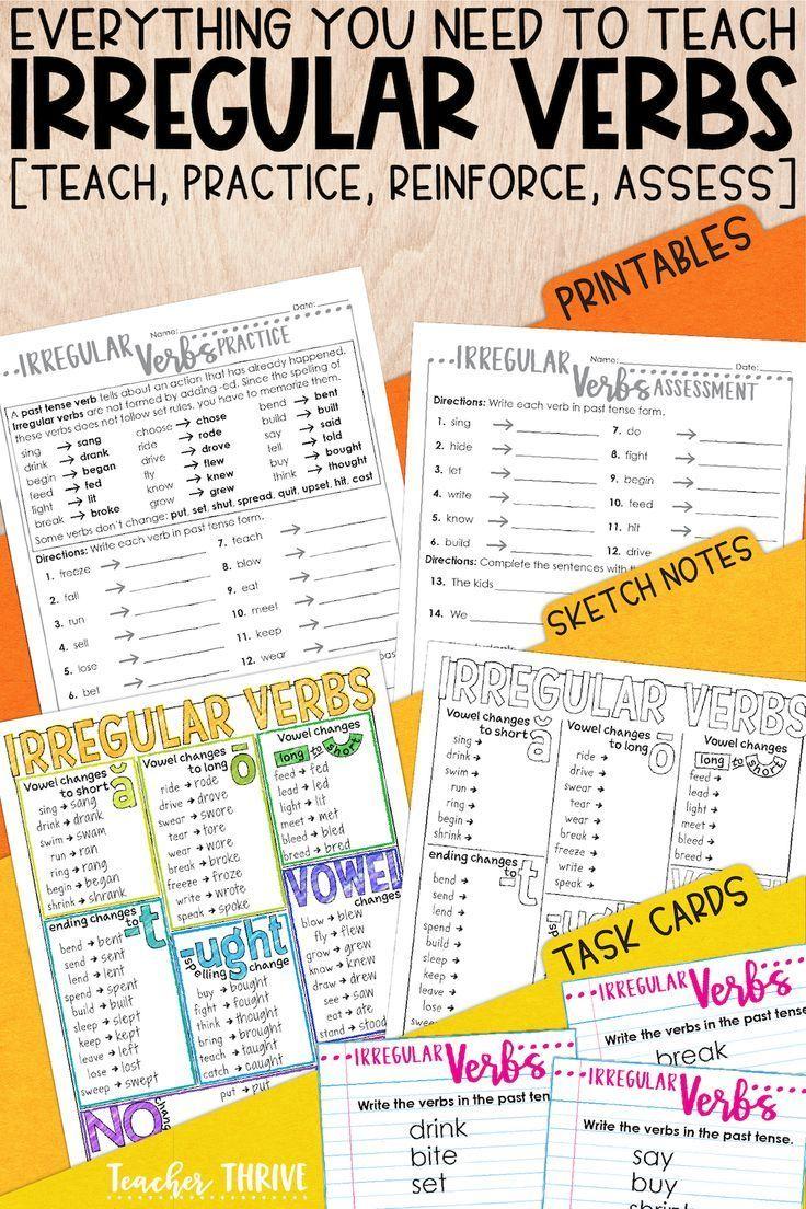 Third Grade Grammar Irregular Verbs Teacher Thrive Irregular Verbs Teaching Verbs Verbs Lessons [ 1104 x 736 Pixel ]
