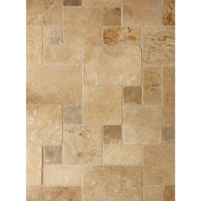 Daltile travertine peruvian cream paredon pattern natural for Daltile bathroom tile designs