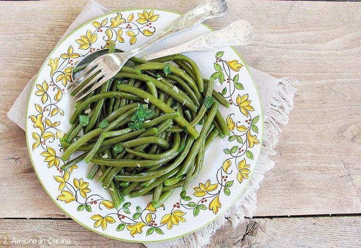 Fagiolini all'aglio e mentuiccia