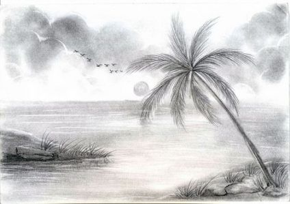 31 Ideas For Drawing Nature Pencil Easy Drawing Scenery Landscape Sketch Landscape Drawings
