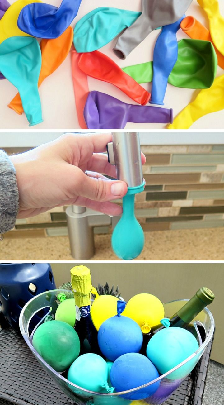 Easy creative way to keep drinks cold at your next summer party!