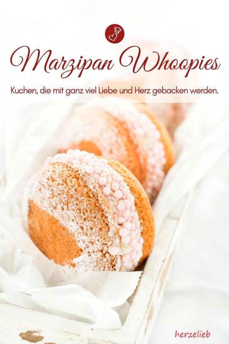 Kuchen Rezepte, Marzipan Rezepte: Rezept für Marzipan Whoopie Pies, kleine Kuch… – Kekse und Cookies