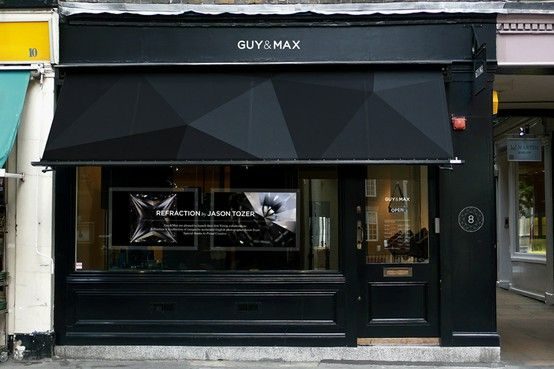 black store front