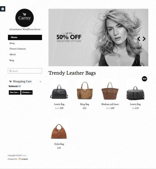 Cartsy WordPress eCommerce Theme & Free WooCommerce Plugin!