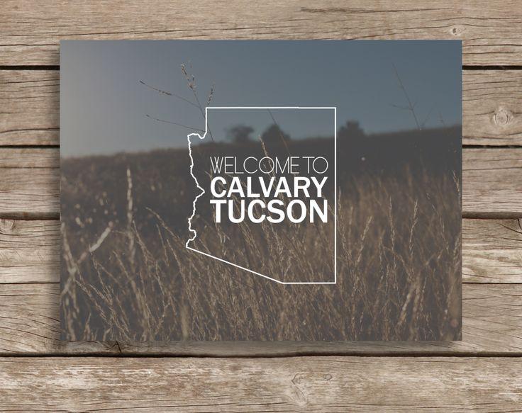 Church Welcome Card | Calvary Tucson | Church Graphic Design | Arizona | Becca Hitchcock