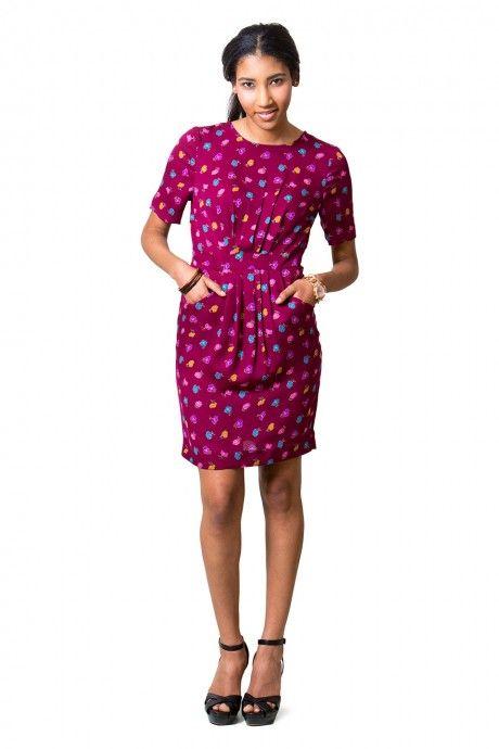 Pattern Runway Coffee Date Dress   Een jurk die zowel casual als classy kan zijn en niet te moeilijk is om zelf te naaien