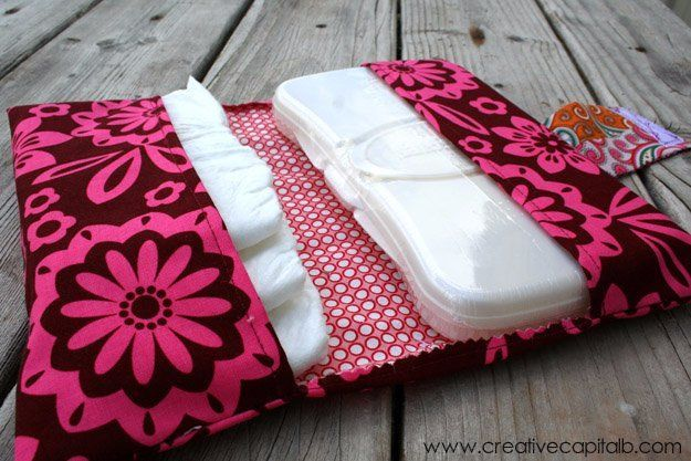 Easy Sewing Projects to Sell - Easy Diaper and Wipes Carrier - DIY Sewing Ideas for Your Craft Business. Make Money with these Simple Gift Ideas, Free Patterns, Products from Fabric Scraps, Cute Kids Tutorials http://diyjoy.com/sewing-crafts-to-make-and-sell