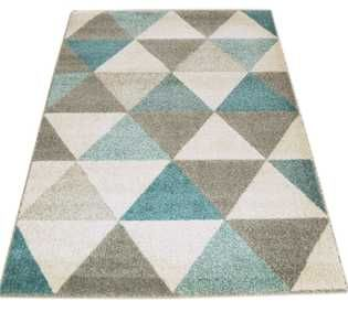 Focus FC02 Triangles Blue Rug