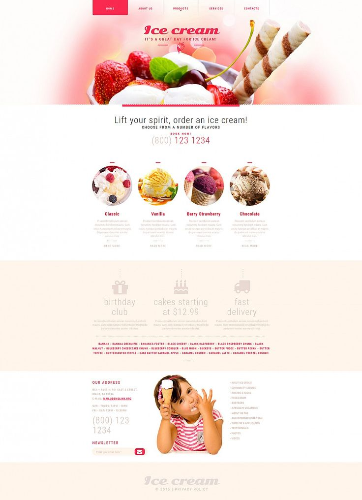 Ice Cream Responsive Moto CMS 3 Template #sweets http://www.templatemonster.com/moto-cms-3-templates/54897.html?utm_source=pinterest&utm_medium=timeline&utm_campaign=54897