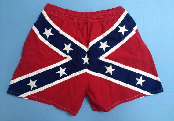 Vintage Rebel Flag Shorts by 21Vintage on Etsy, $45.00