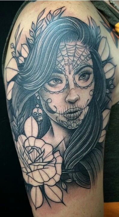 Catrina Tattoo 1st Session