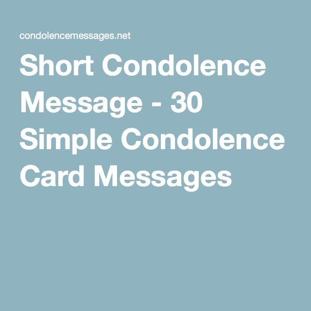 Short Condolence Message - 30 Simple Condolence Card Messages
