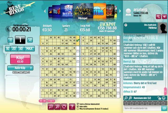 Spela 90-bollars bingo hos Betsson Bingo