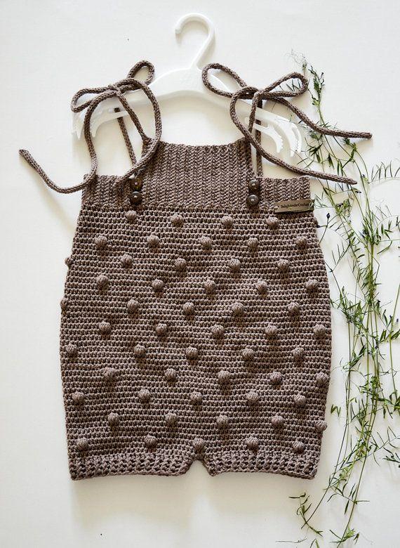 fabc2fd97 Crochet baby romper