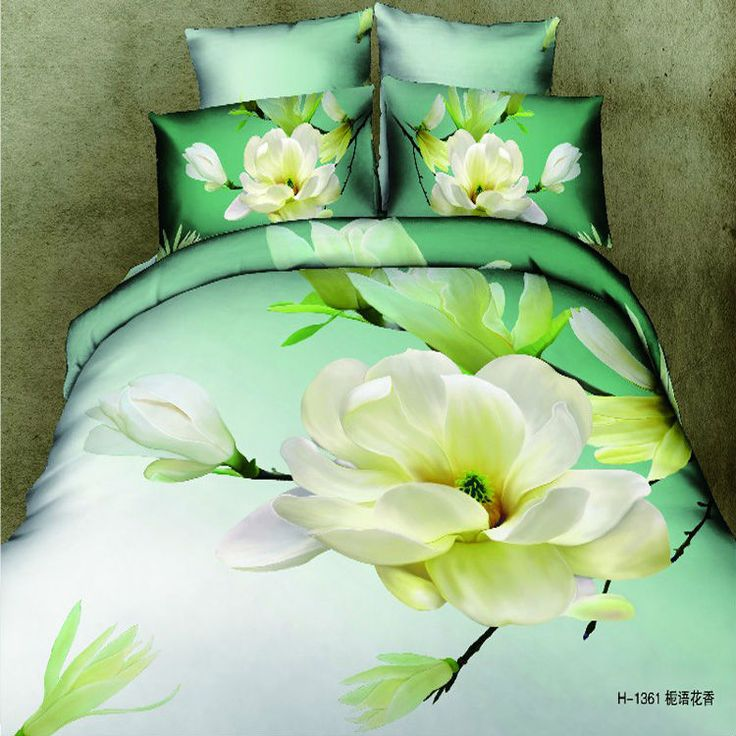 duvet cover bedding sets with blooming peach blossom