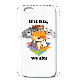 iPhone 5/5S premium case If it fits, we sits internet meme design by Planet Hupo $21.90 #cutecats #internet #meme #iphone5 #iphone5Scase #case #cover