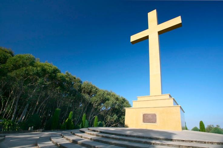Memorial Cross on Mount Macedon.