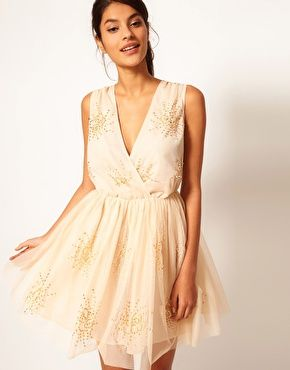 ASOS Party Dress with Embellishment    Reminds me of some tinker bell fairy dress