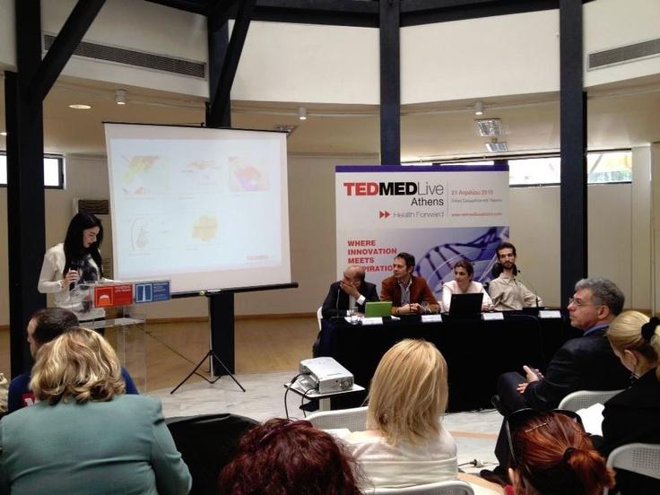 "Vasia Hatzi (TEDMED Live Athens Team member) spoke about the ""MED in Art"""