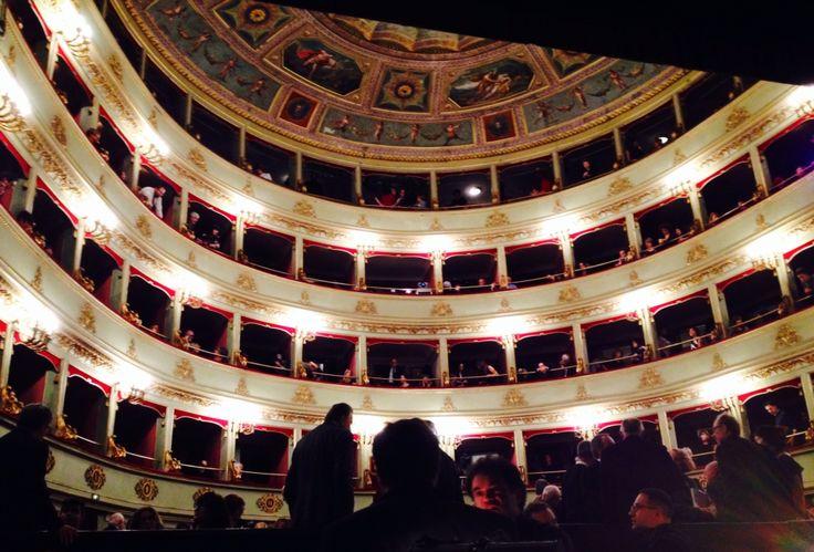#teatro Pergolesi di Jesi (AN) visto dalla buca dell'orchestra