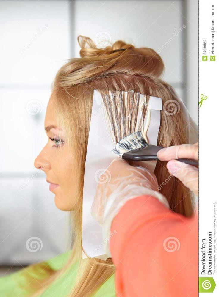 salon de coiffure de coloration photographie