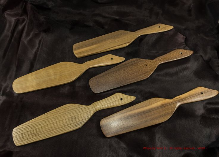 Handmade wooden paddles from Whips by Wolf