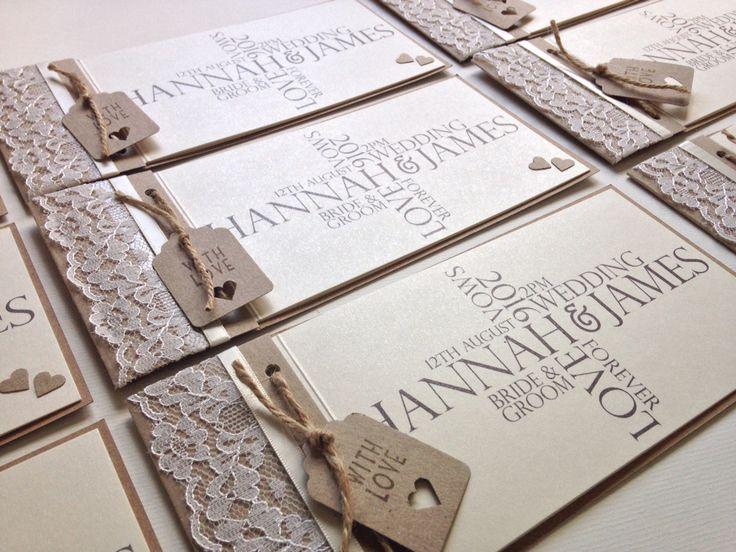 Rustic wedding cheque book style invitation #weddinginvitation #rusticwedding…