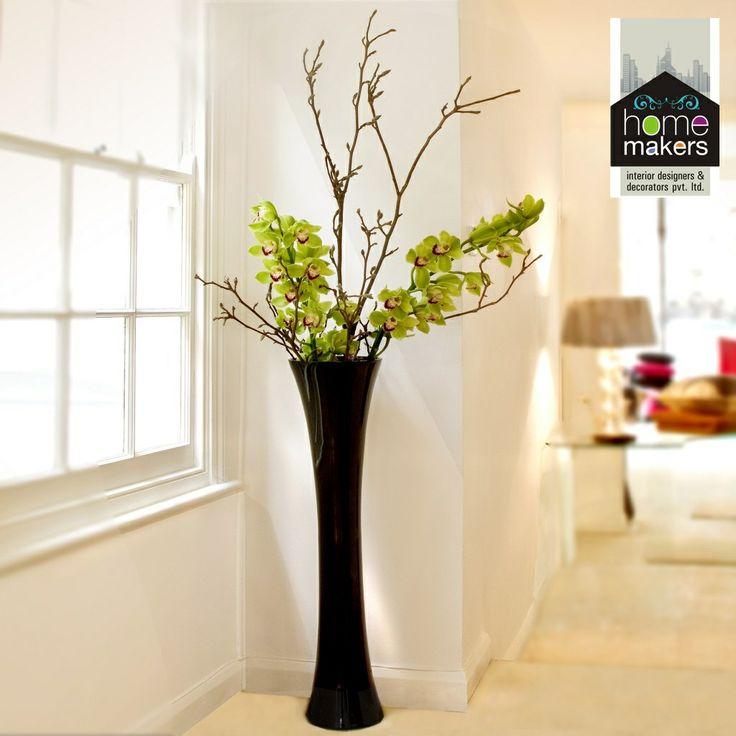 beautiful black vase