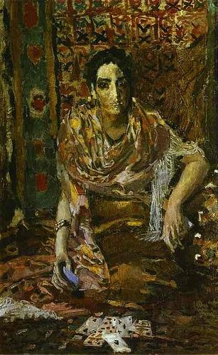 Vrubel, Mikhail (1856-1910) - 1895 Fortune-Teller, The Tretyakov Gallery