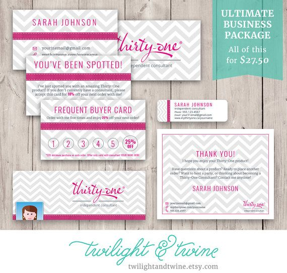 31 Best Business Thank You Card Messages: Thirty-one Ultimate Business Bundle ( 31, Card, Label