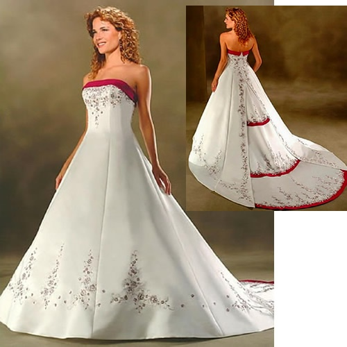 Custom White Couture Petite Plus Size Maternity Wedding Dresses Gowns With Color SKU 118127
