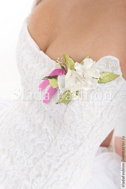 """Кружевной корсет """"Бажена"""" - белый,молочный,свадебное платье,кринолин,корсет"""
