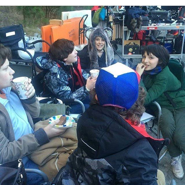 Behind the scenes❣❣ #strangerthings