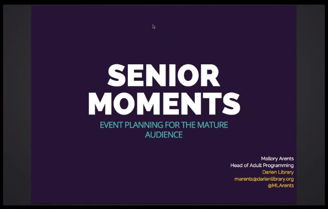 Senior Moments Event Planning for the Mature Audience