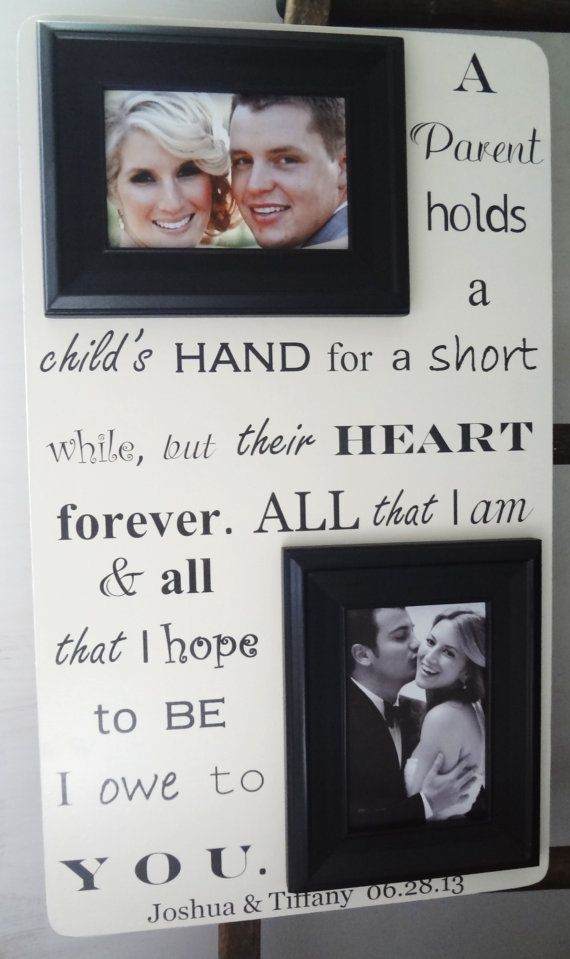 parent s of bride groom 13x22 wedding frame gift for parents mom dad