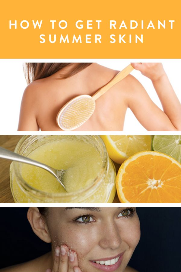 How To Get Radiant Summer Skin via @PureWow