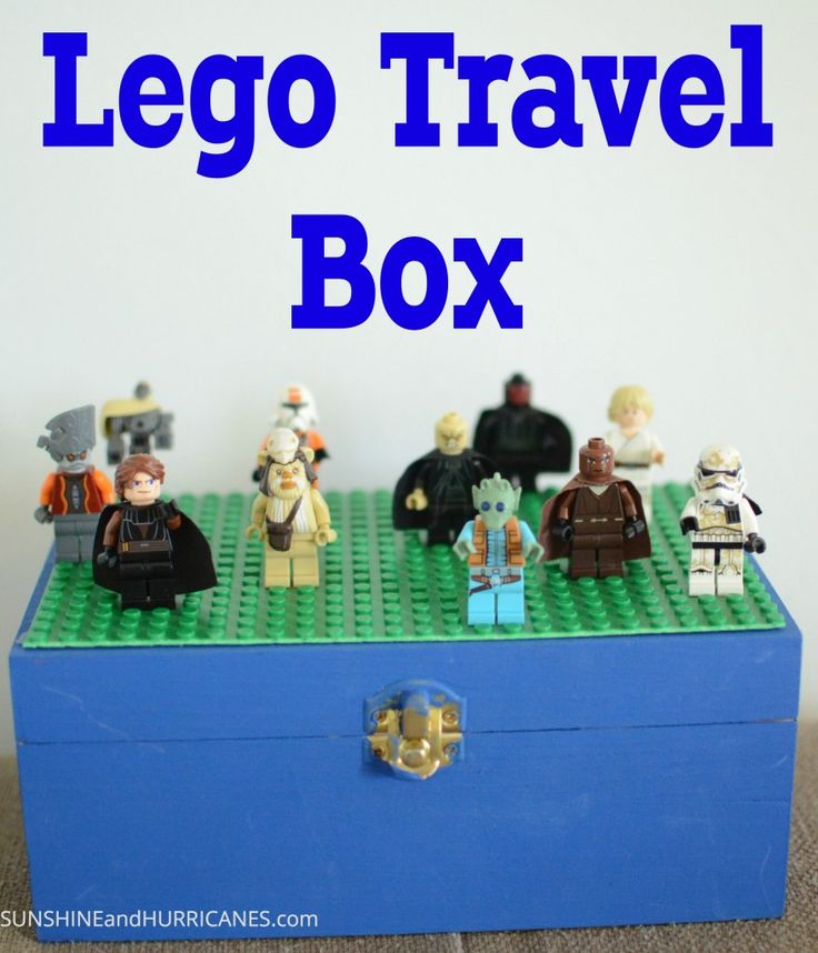 Need a fun and easy kid's craft? This DIY LEGO Travel Box is the ultimate in road trip or vacation entertainment! Pack up your favorite Star Wars, Ninjago, Lego Friends, or Disney Princess minifigures with a variety of bricks, and children will be happy for hours! Lots of creative ways to use this project at a party, playdate, or school event!