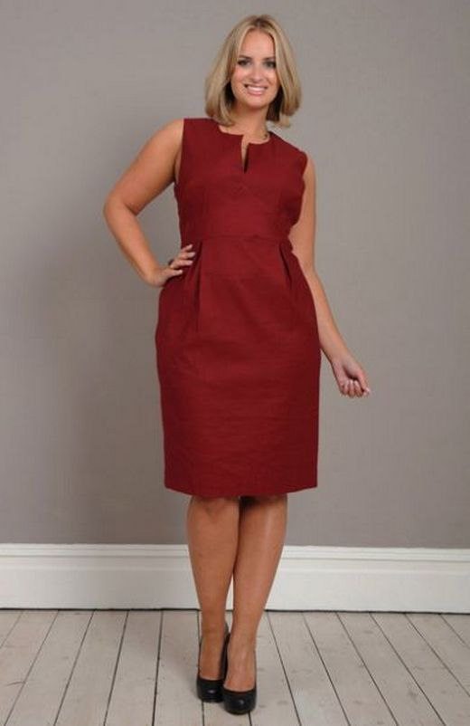 Plus Size Sleeveless Business Attire
