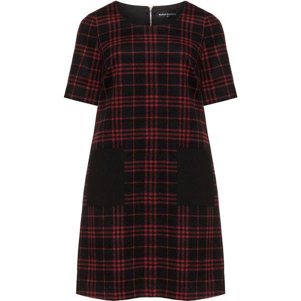 Manon Baptiste A-line plaid dress found on Polyvore featuring dresses, black dress, zip dress, tartan dress, black zipper dress and zipper dress