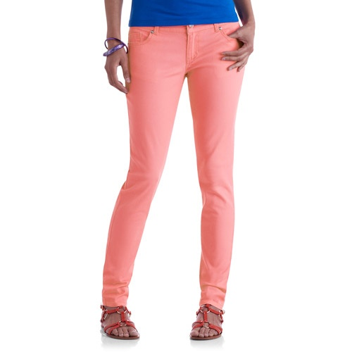 No Name Juniors Skinny Neon Colored Jeans: Juniors ...