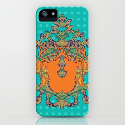 Orange Bloom : Blue Polka iPhone & iPod Case by Geetika Gulia - $35.00