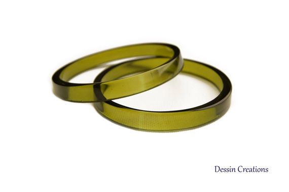 WINE BOTTLE BANGLES.  Recycled Glass Jewelry.  www.DessinCreations.com