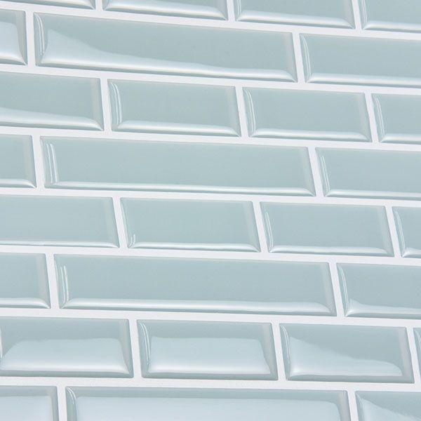 Nh2361 Sea Glass Peel And Stick Backsplash Tiles By In Home Peel Stick Backsplash Stick Tile Backsplash Stick On Tiles